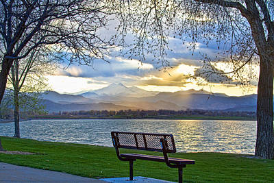 Favorite Bench And Lake View Poster by James BO  Insogna