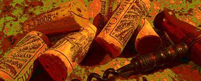 Favorite Corks Poster by Doug Edmunds