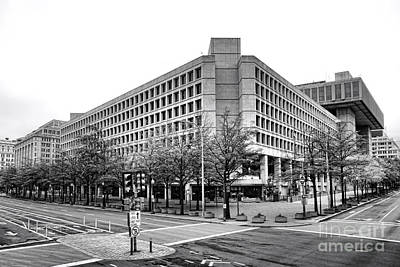 Fbi Building Front View Poster by Olivier Le Queinec