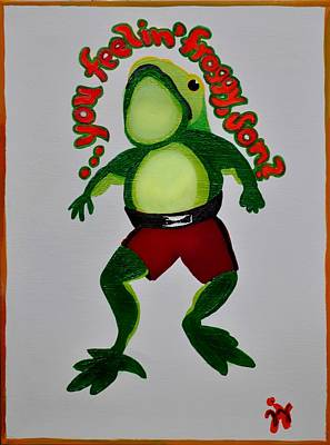 Feelin Froggy Poster by Jill Jacobs