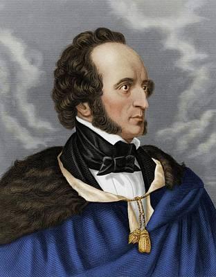 Felix Mendelssohn Poster by Maria Platt-evans
