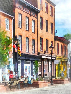 Fells Point Street Poster by Susan Savad