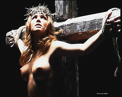 Female Christ Poster by Ramon Martinez