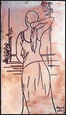 Female Enamel On Copper Poster by Prajakta P