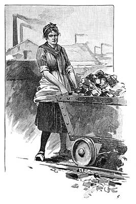 Female Mine Worker, Artwork Poster by Science Photo Library