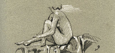 Female Nude Study Poster by Juan  Bosco