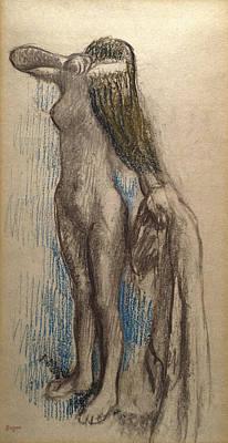 Femme Se Coiffant Poster by Edgar Degas