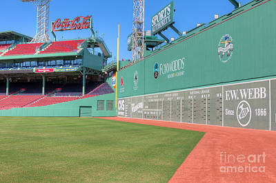 Fenway Park Green Monster I Poster by Clarence Holmes