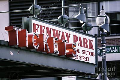 Fenway Tickets Poster by Jerry Fornarotto
