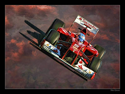 Fernando Alonso Ferrari Poster by Blake Richards