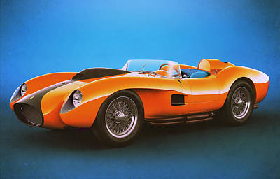 Ferrari 250 Testa Rossa - Vintage Racing Poster by Marc Orphanos