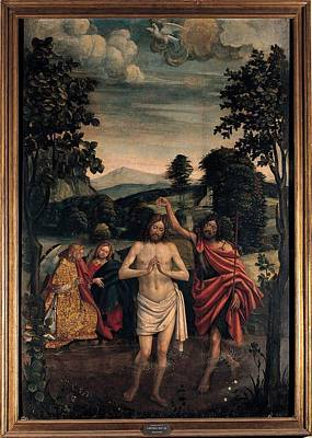 Ferrari Defendente, Baptism Of Christ Poster by Everett
