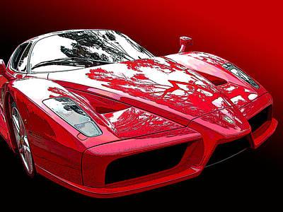 Ferrari Enzo Front Study Poster by Samuel Sheats