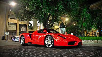 Ferrari Enzo Poster by Marvin Blaine