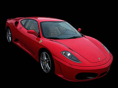 Ferrari F430 Poster by Samuel Sheats