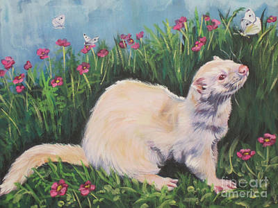 Ferret Poster by Lee Ann Shepard