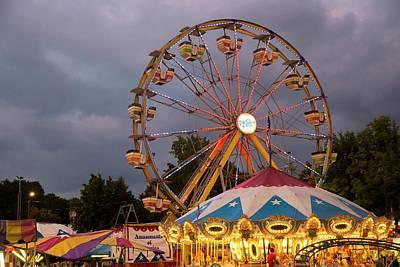 Ferris Wheel Fairground Ride Poster by Jim West