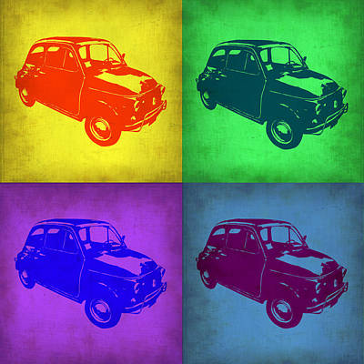 Fiat 500 Pop Art 1 Poster by Naxart Studio