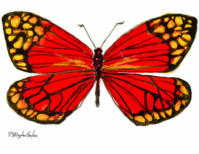 Fiery Butterfly Poster by Patricia Allingham Carlson