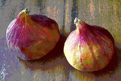 Figs Still Life Pop Art Poster by Ben and Raisa Gertsberg