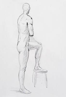 Figure Drawing Study Iv Poster by Irina Sztukowski