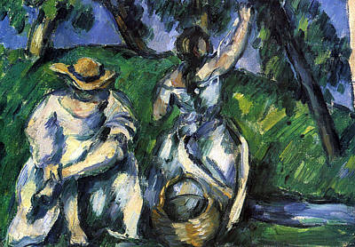 Figures By Cezanne Poster by John Peter