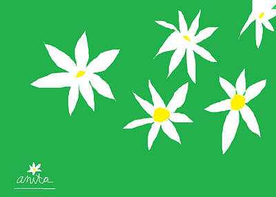 Fine Day Green Poster by Anita Dale Livaditis