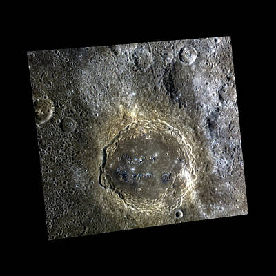 Firdousi Crater Poster by Nasa/johns Hopkins University Applied Physics Laboratory/carnegie Institution Of Washington
