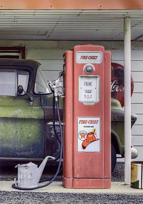 Fire Chief - Gas Pump - Retro Poster by Nikolyn McDonald