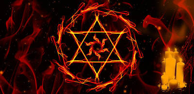 Fire Hexagram Poster by Persephone Artworks