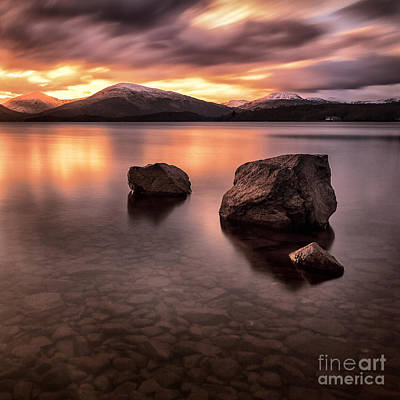 Fire In The Sky Loch Lomond Poster by John Farnan