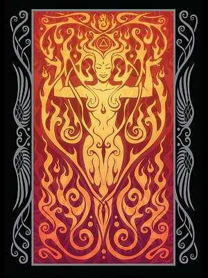 Fire Spirit V.2 Poster by Cristina McAllister