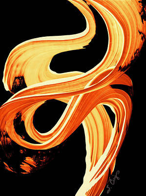 Fire Water 207 By Sharon Cummings Poster by Sharon Cummings