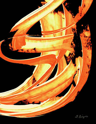 Fire Water 304 By Sharon Cummings Poster by Sharon Cummings