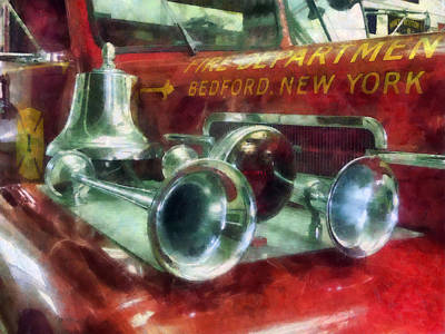 Fireman - Fire Engine Horns And Bell Poster by Susan Savad