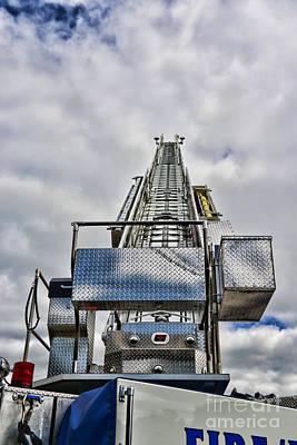 Fireman - Fire Ladder Poster by Paul Ward