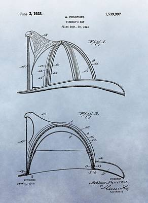 Fireman's Helmet Patent Poster by Dan Sproul
