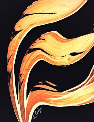 Firewater 6 - Warm Modern Art By Sharon Cummings Poster by Sharon Cummings