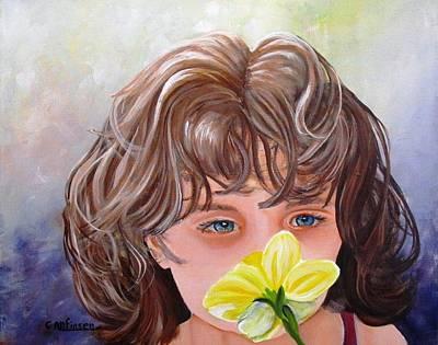 First Daffodil Poster by Carol Allen Anfinsen