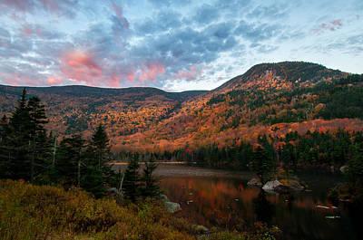 Beaver Pond Sunrise-kinsman Notch New Hampshire Poster by Thomas Schoeller