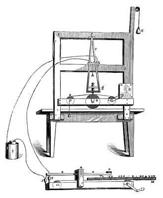 First Morse Telegraph Poster by Science Photo Library