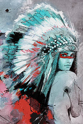 First Nations 005 C Poster by Corporate Art Task Force