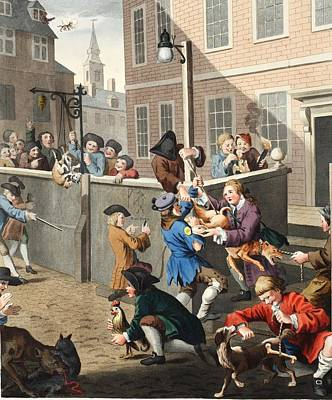 First Stage Of Cruelty, Illustration Poster by William Hogarth