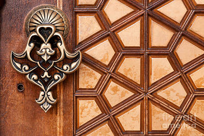 Firuz Aga Mosque Door 03 Poster by Rick Piper Photography