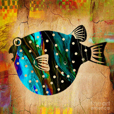 Fish Art Poster by Marvin Blaine