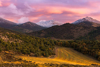 Fish Creek Pass Sunset Poster by Joseph Rossbach