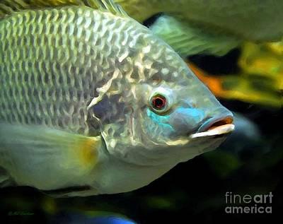 Fish Lips Poster by Mel Steinhauer