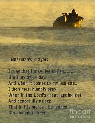 Fisherman's Prayer Poster by Robert Frederick