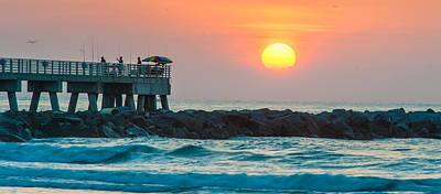 Fisherman's Sunrise Poster by Cliff C Morris Jr