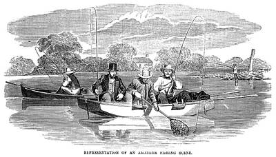 Fishing, 1854 Poster by Granger